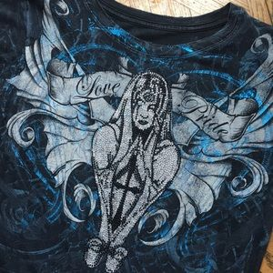 Sinful Tops - Sinful tee black